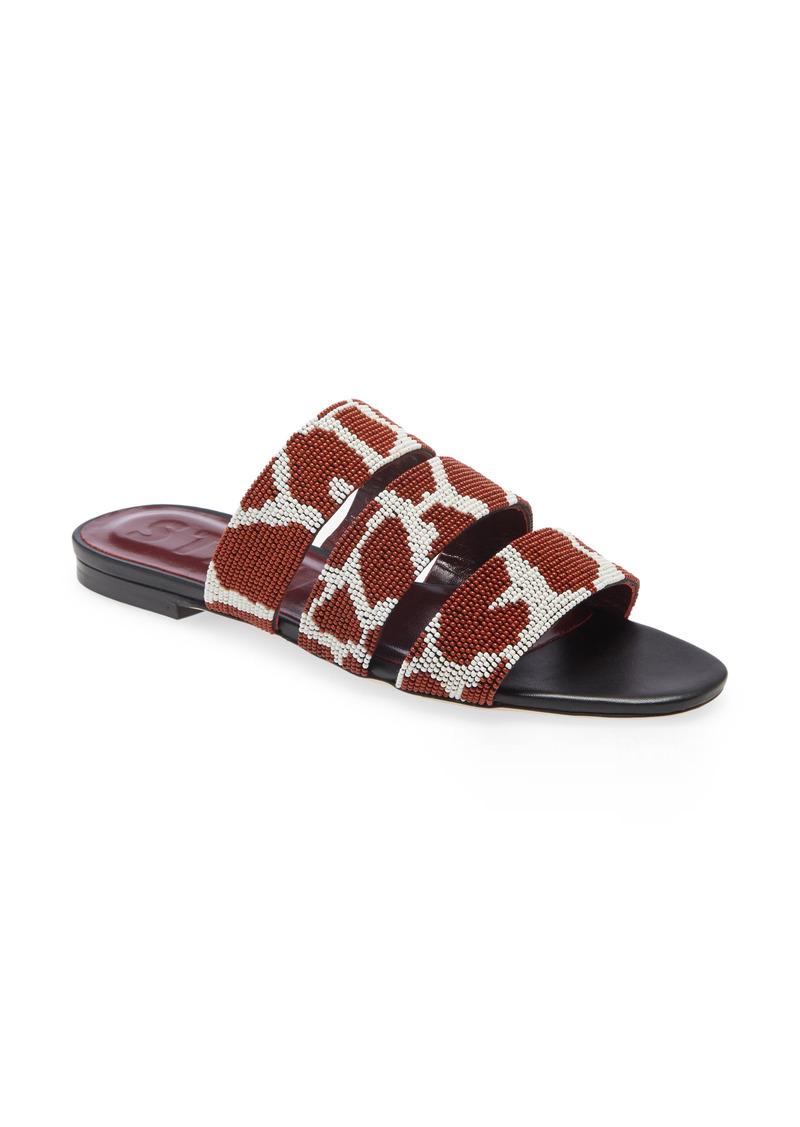 STAUD Mona Beaded Slide Sandal (Women)