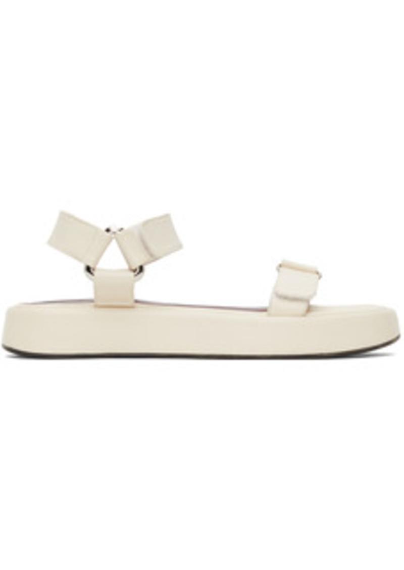 Staud Off-White Liz Sandals