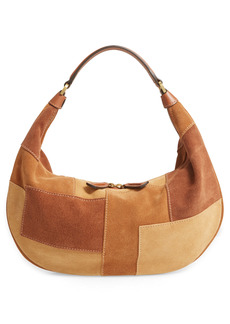 STAUD Sasha Leather Shoulder Bag