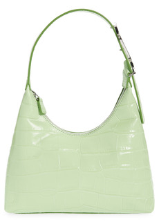STAUD Scotty Croc Embossed Leather Top Handle Bag