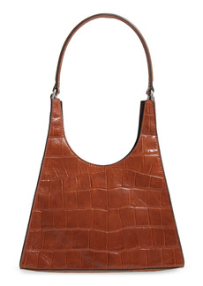 STAUD Small Rey Leather Shoulder Bag