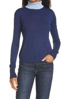 STAUD Urchin Contrast Turtleneck Sweater