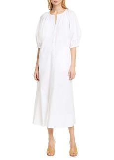 STAUD Vincent Puff Sleeve Maxi Dress