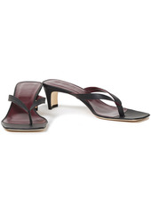 Staud Woman Audrey Leather Sandals Tan