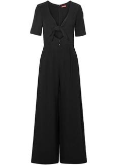 Staud Woman Gabriella Knotted Cutout Cady Jumpsuit Black