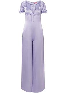 Staud Woman Naomi Satin-twill Jumpsuit Lavender