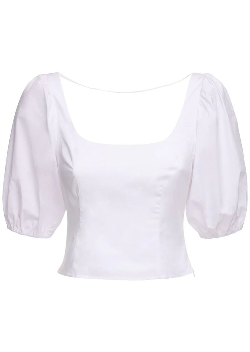 STAUD Stretch Cotton Poplin Top