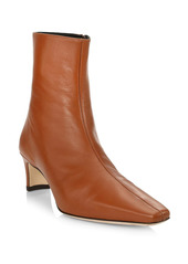 STAUD Wally Leather Ankle Boots