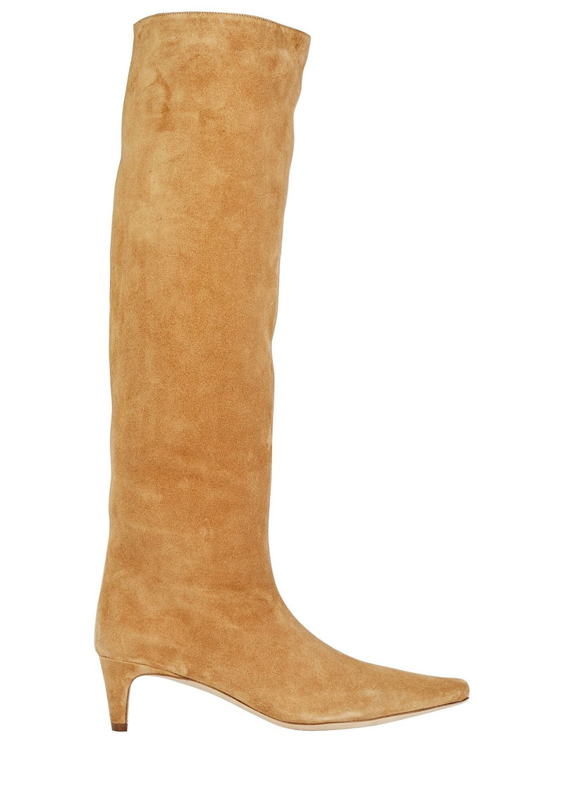 STAUD Wally Suede Knee-High Boots