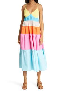Women's Staud Cleo Colorblock Sundress