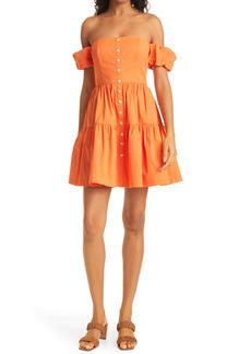 Women's Staud Elio Strapless Minidress