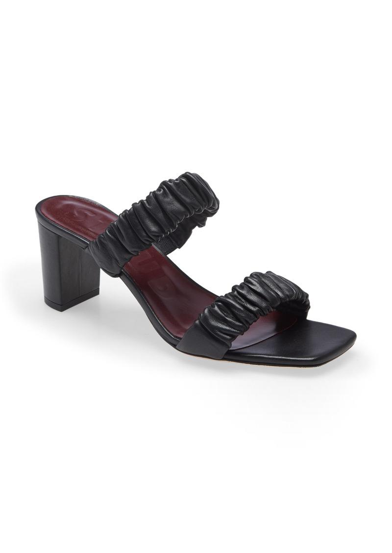 Women's Staud Frankie Ruched Slide Sandal