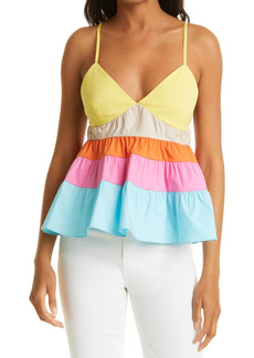 Women's Staud Olympia Colorblock Tiered Camisole