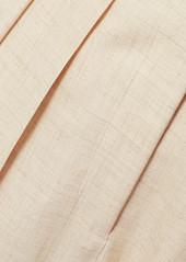 Stella McCartney Ariana Pleated Woven Wide-leg Pants