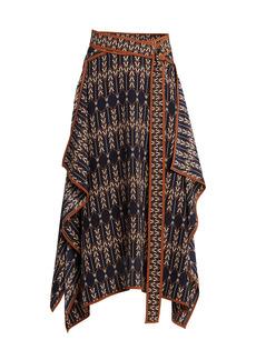 Stella McCartney Arrow-Print Asymmetric Skirt
