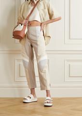 Stella McCartney Brooke Color-block Paneled Twill Tapered Pants