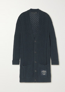 Stella McCartney Cable-knit Organic Cotton-blend Cardigan