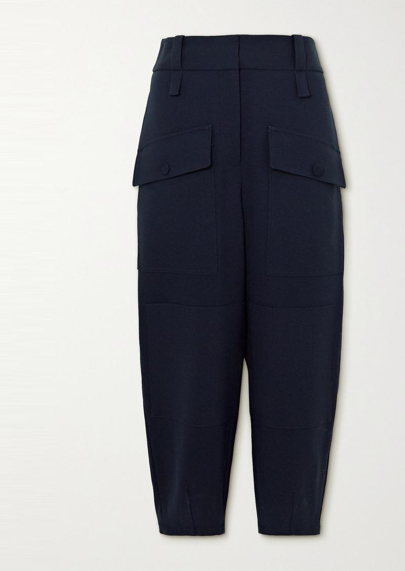 Stella McCartney Cecilia Wool-blend Crepe Tapered Pants