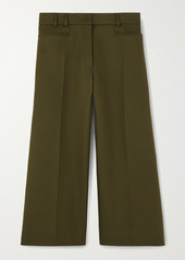 Stella McCartney Charlotte Cropped Twill Wide-leg Pants
