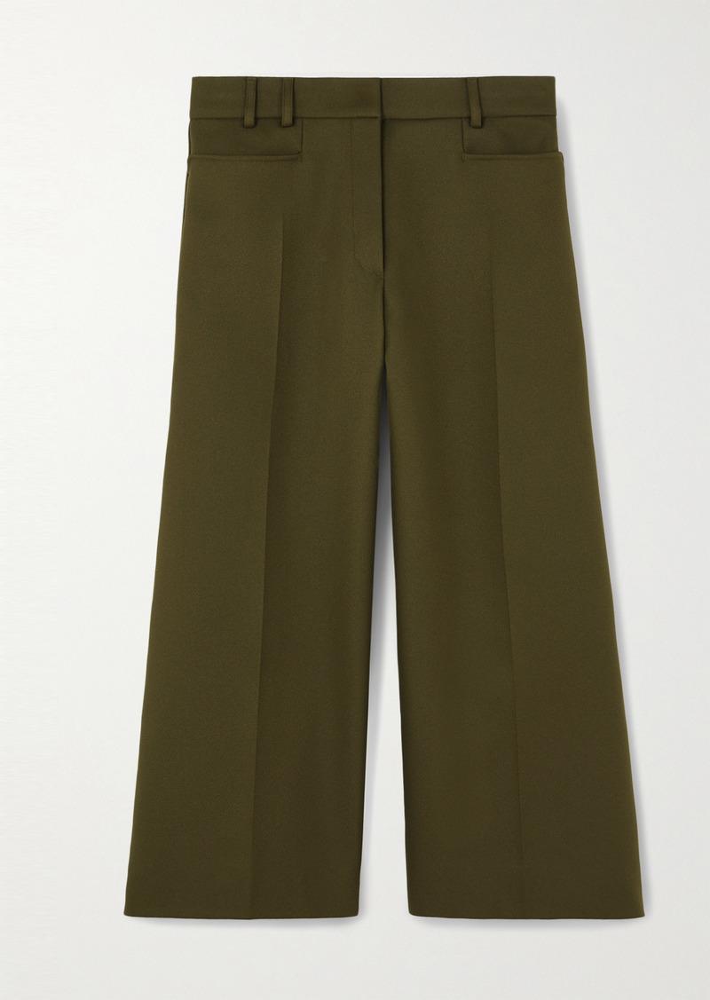 Stella McCartney Charlotte Cropped Twill Wide-leg Pants