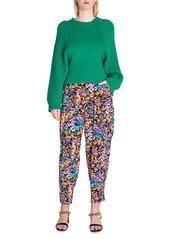 Stella McCartney Christelle Floral Silk Trousers