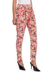 Stella McCartney Christine Watercolor Floral Silk Trousers
