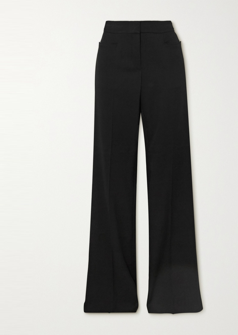 Stella McCartney Claudia Wool-crepe Wide-leg Pants