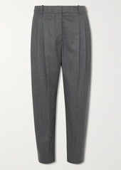 Stella McCartney Cropped Pleated Wool Tapered Pants