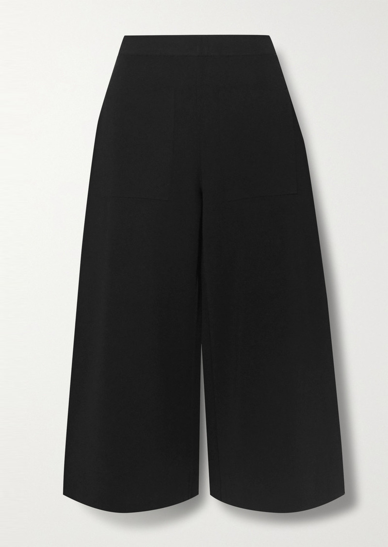 Stella McCartney Cropped Stretch-knit Wide-leg Pants