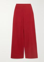 Stella McCartney Cropped Stretch-knit Wide-leg Pants