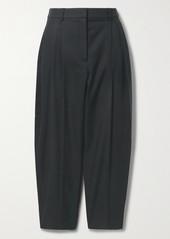 Stella McCartney Dawson Pleated Herringbone Wool-blend Tapered Pants