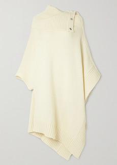 Stella McCartney Draped Wool-blend Cape