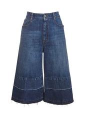 Stella McCartney Eco Denim Wide Leg Culotte Jeans