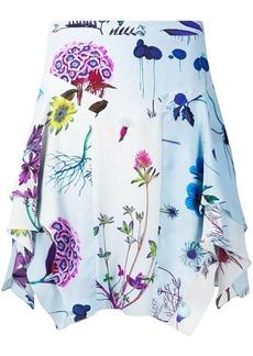 Stella McCartney floral print draped skirt