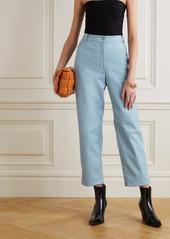 Stella McCartney Hailey Vegetarian Leather Straight-leg Pants