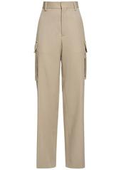Stella McCartney High Waist Wool Wide Leg Pants