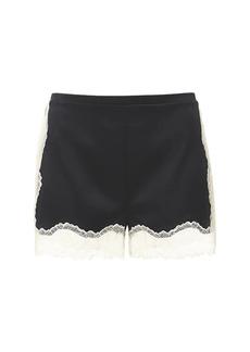 Stella McCartney Kitty Silk Satin & Lace Shorts