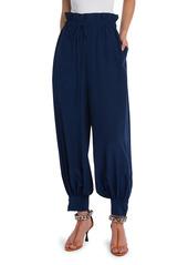 Stella McCartney Lauryn Silk Crepe De Chine Paperbag Trousers