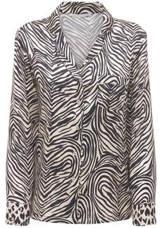 Stella McCartney Maggie Twisting Silk Satin Shirt