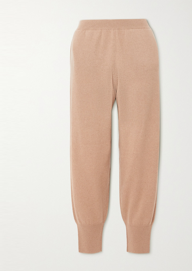 Stella McCartney Net Sustain Cashmere And Wool-blend Track Pants