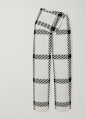 Stella McCartney Net Sustain Checked Stretch-knit Wide-leg Pants