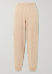 Stella McCartney Net Sustain Crochet-trimmed Cashmere And Wool-blend Track Pants