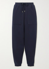Stella McCartney Net Sustain Cropped Organic Cotton-jersey Track Pants