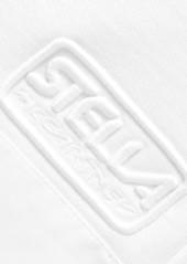 Stella McCartney Net Sustain Cropped Organic Cotton-poplin And Jersey Track Pants