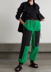 Stella McCartney Net Sustain Kara Recycled Faux Shearling And Shell Track Pants