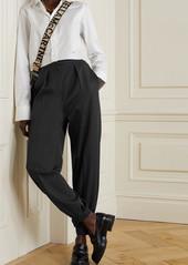 Stella McCartney Nicole Pleated Wool-twill Tapered Pants