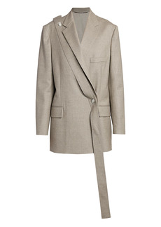 Stella McCartney One-Button Cross Front Blazer