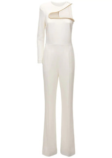 Stella McCartney One-shoulder Cady Evening Jumpsuit
