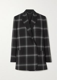 Stella McCartney Oversized Checked Wool-twill Blazer