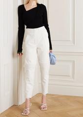 Stella McCartney Paneled Vegetarian Leather Tapered Pants